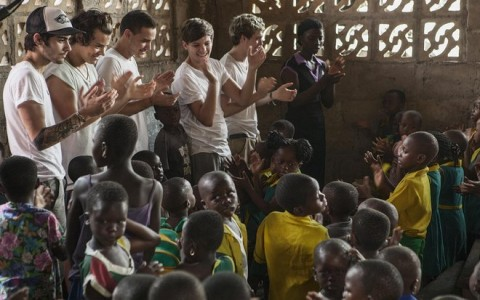 One Direction visit a School in Accra for Red Nose Day