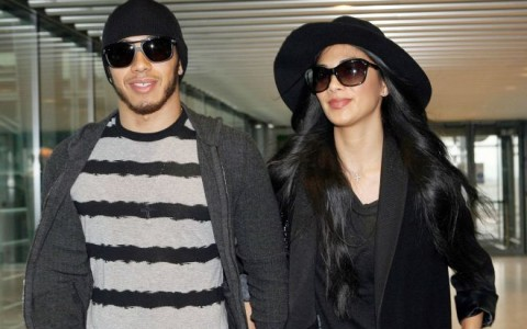 Nicole Scherzinger & Lewis Hamilton Catch A Flight Out Of London