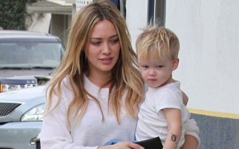 Hilary Duff Takes Luca Out For Lunch