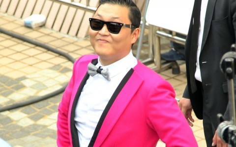 Psy Films A Commercial In Taipei
