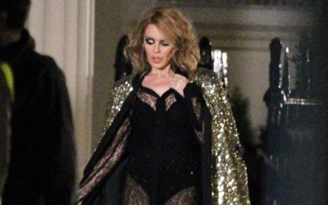 Exclusive... Kylie Minogue Films A Sexy New Music Video