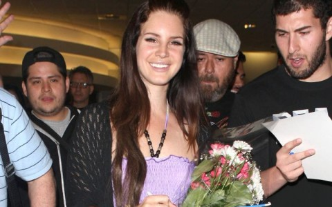 Lana Del Rey Arriving On A Flight At LAX