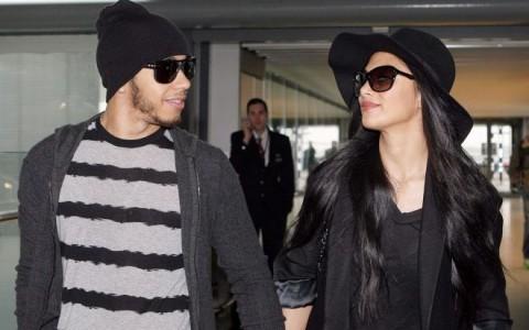 Nicole Scherzinger & Lewis Hamilton Catch A Flight Out Of London