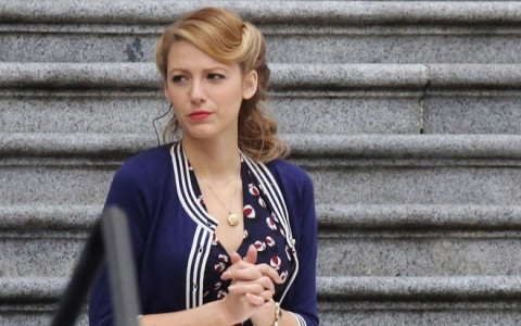 FAMEFLYNET - Blake Lively Spotted Filming Age Of Adaline In Vancouver