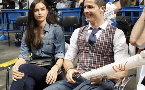 Cristiano Ronaldo & Irina Shayk Enjoy A Basketball Game In Madrid