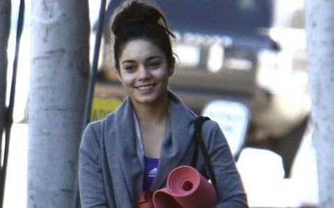 Exclusive... Vanessa Hudgens Leaving A Yoga Class In Studio City