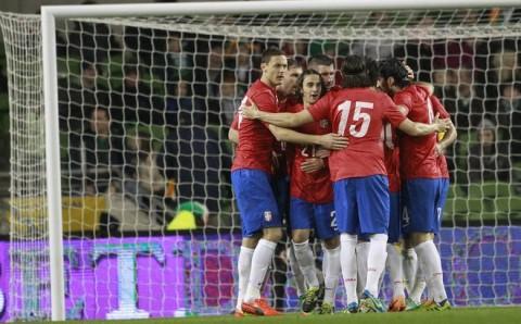 Republic of Ireland Serbia Soccer