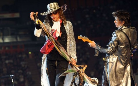 PARIS: Aerosmith perform at Paris Bercy.