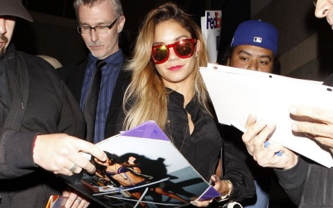 Vanessa Hudgens Gets Mobbed By Fans At LAX