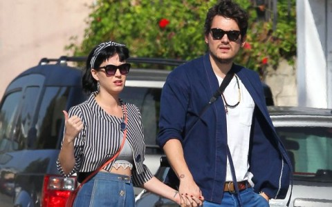 Exclusive... Ringless Katy Perry & John Mayer Spend Sunday Eating And Shopping
