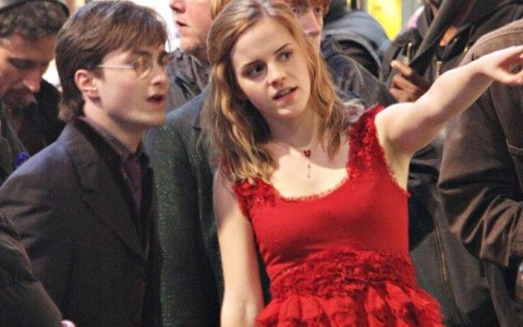Celebs In The Set Of 'Harry Potter And The Deathly Hollows' 3 (USA AND CANADA ONLY)