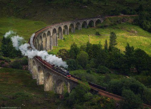most glenfinan vijadukt skotska Mostovi kao iz bajke
