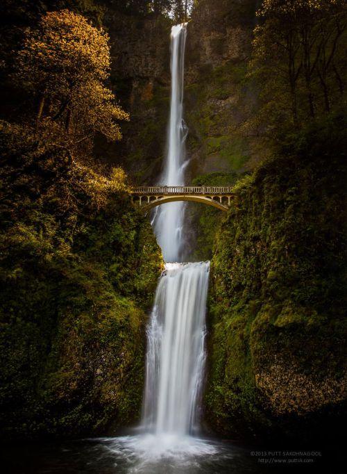 most na multnoma vodopadima u oregonu sad Mostovi kao iz bajke