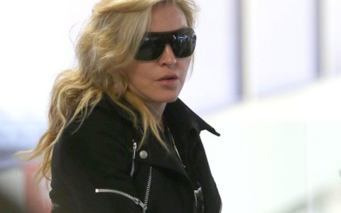 Madonna Catches A Flight Out Of LA