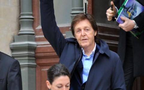Paris: Celebs leave the Stella McCartney fashion show.