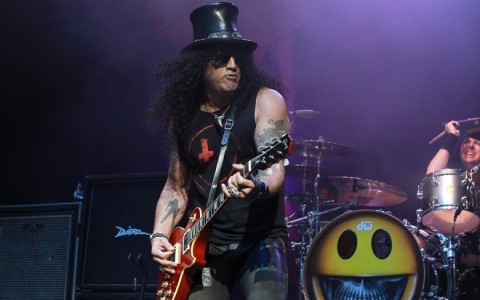 Slash performs with Myles Kennedy at Hard Rock Live Hollywood