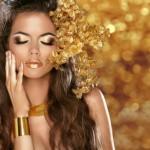 Korak po korak: Našminkajte oči u zlatnoj boji